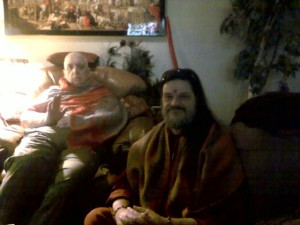 Swami getting Gurus blessing